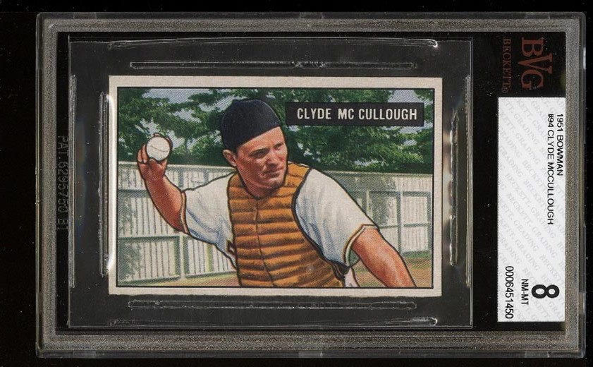 Image of: 1951 Bowman Clyde McCullough #94 BVG 8 NM-MT (PWCC)
