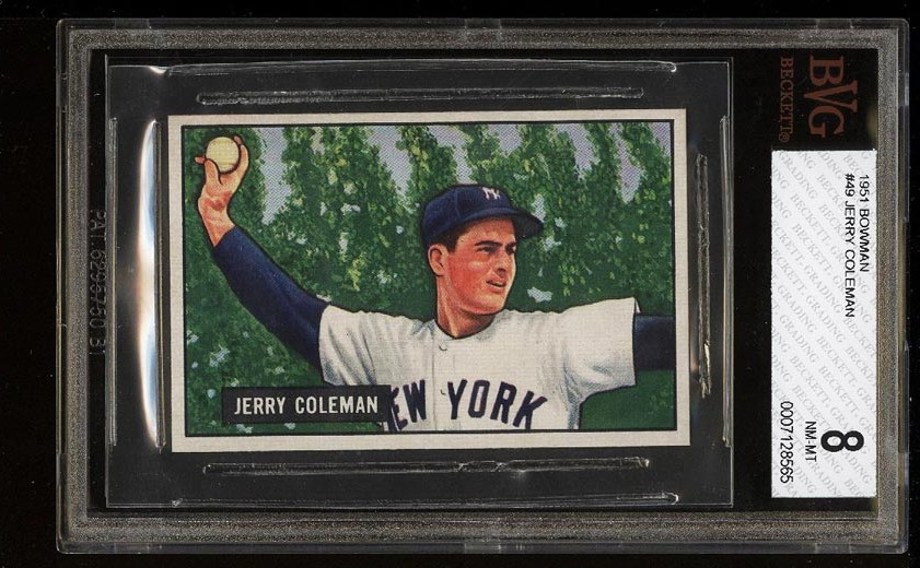 Image of: 1951 Bowman Jerry Coleman #49 BVG 8 NM-MT  (PWCC)