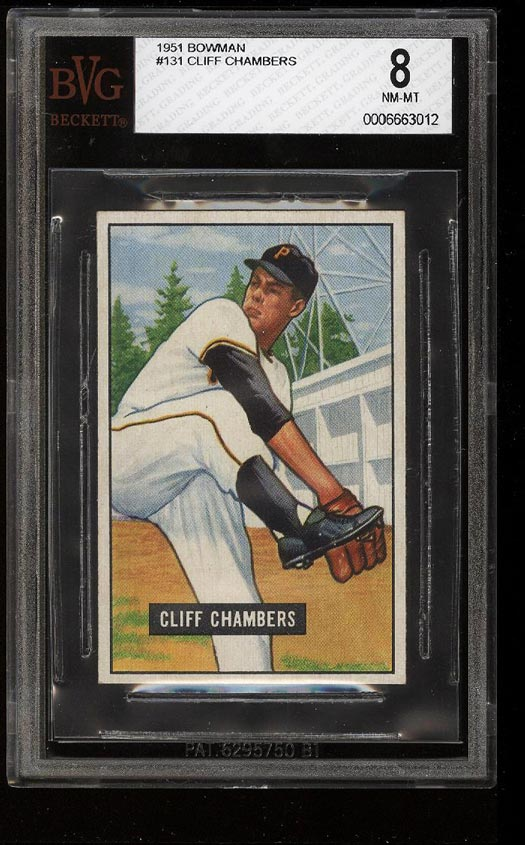 Image of: 1951 Bowman Cliff Chambers #131 BVG 8 NM-MT (PWCC)