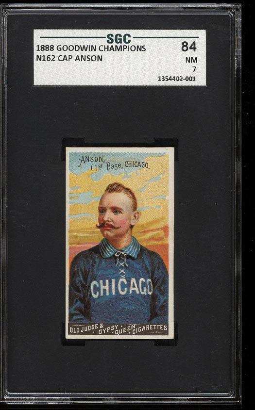 Image of: 1888 N162 Goodwin Champions Cap Anson SGC 7/84 NRMT (PWCC)