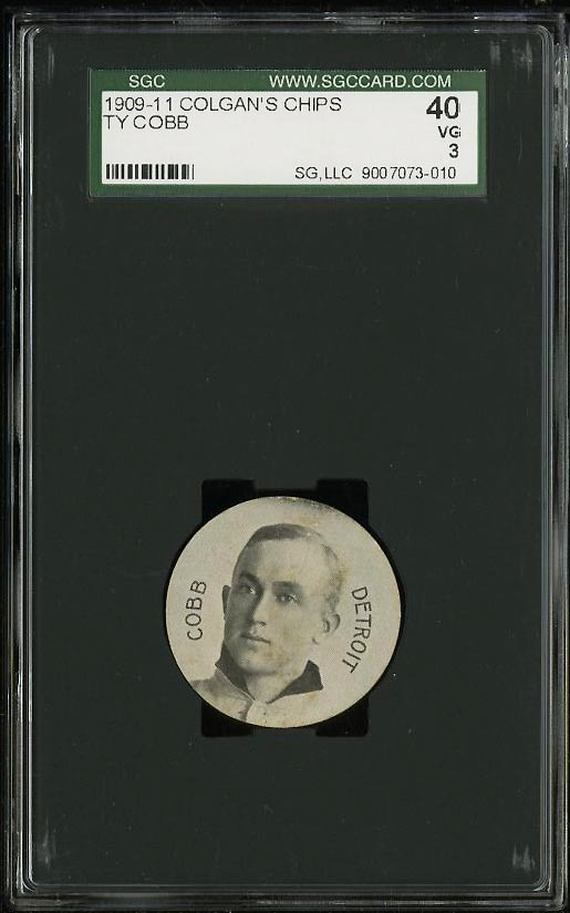 Image of: 1909 Colgan's Chip Stars Of The Diamond Ty Cobb SGC 3/40 VG (PWCC)