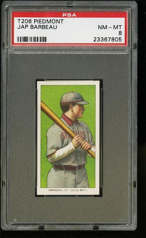 Image of: 1909-11 T206 Jap Barbeau PSA 8 NM-MT (PWCC)