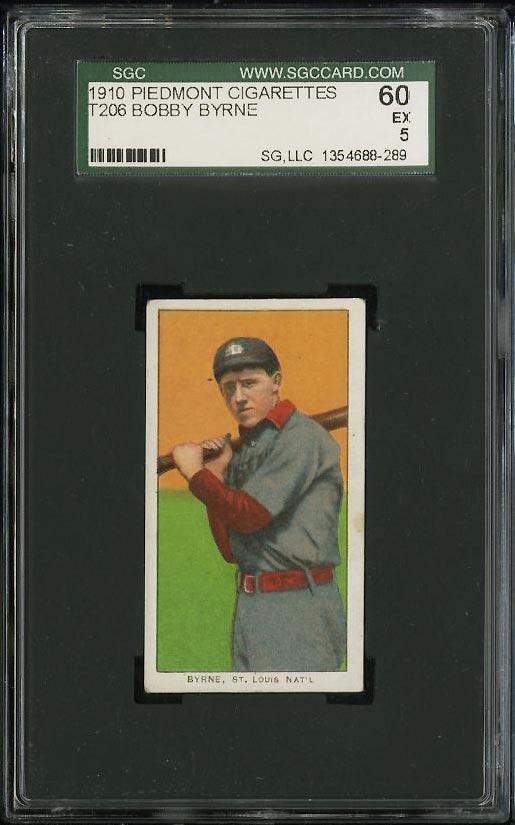 Image of: 1909-11 T206 Bobby Byrne SGC 5/60 EX (PWCC)