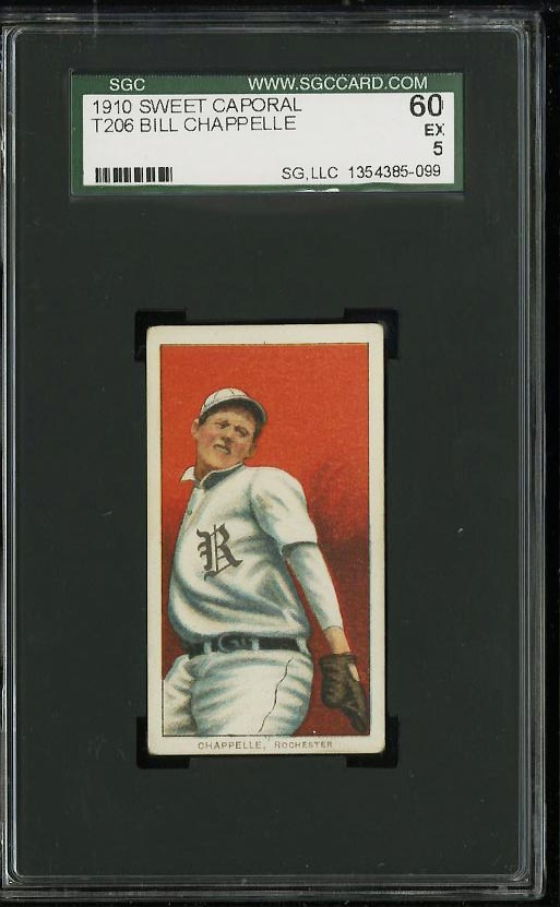 Image of: 1909-11 T206 Bill Chappelle SGC 5/60 EX (PWCC)