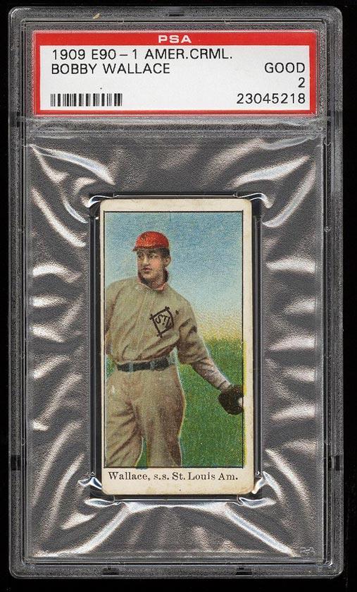 Image of: 1909 E90-1 American Caramel Bobby Wallace PSA 2 GD (PWCC)