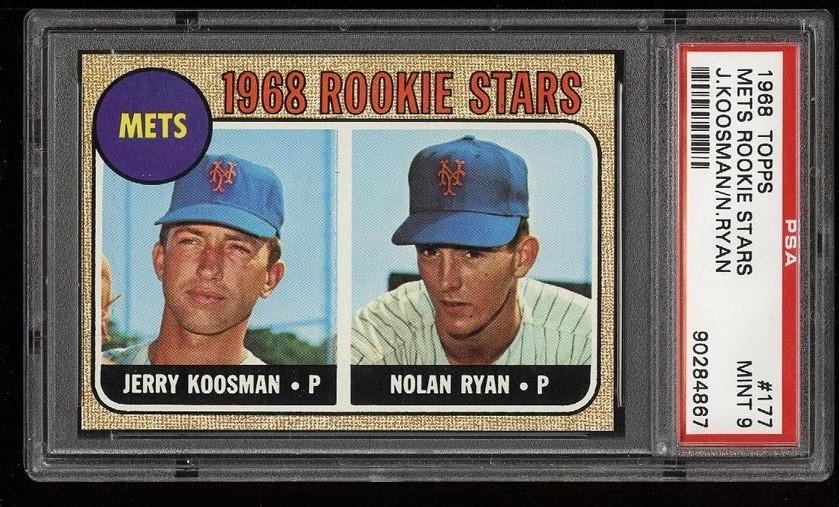 Image of: 1968 Topps Nolan Ryan ROOKIE RC #177 PSA 9 MINT (PWCC)