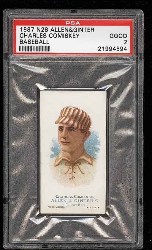 Image of: 1888 N28 Allen & Ginter Charles Comiskey PSA 2 GD (PWCC)
