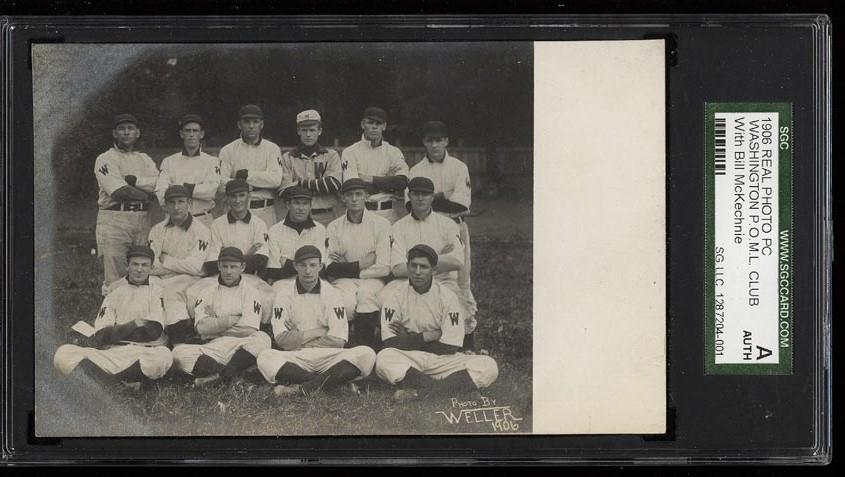 Image of: 1906 Real Photo Post Card Washington POML Club, Bill McKechnie SGC AUTH (PWCC)