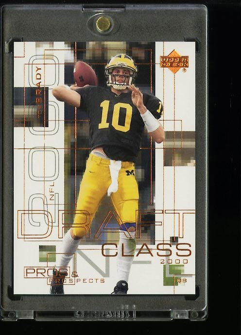 Image of: 2000 Upper Deck Pros & Prospects Tom Brady ROOKIE RC /1000 #124 (PWCC)