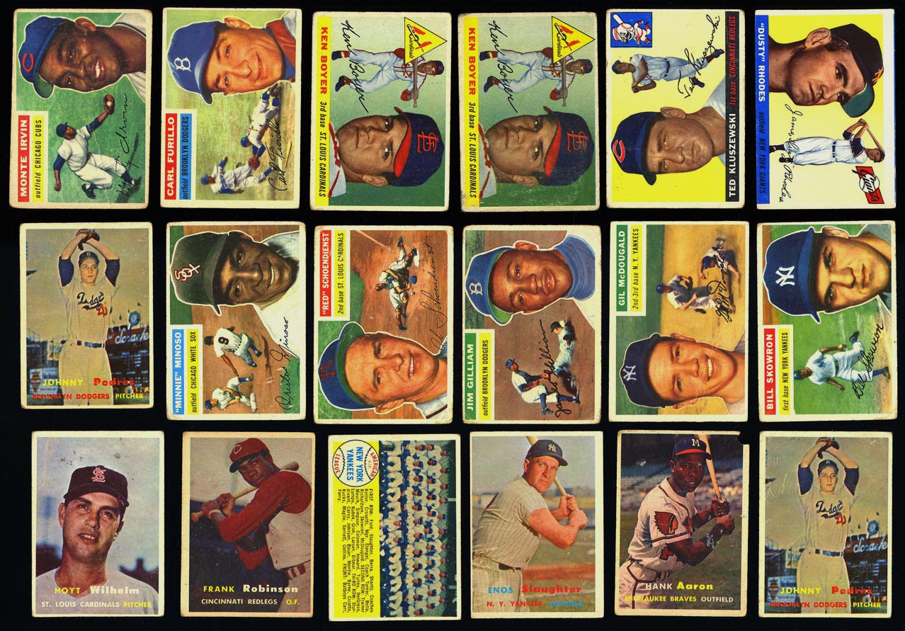 Lot(180) 1952-58 Topps Stars Mickey Mantle Mays Aaron Berra Ford, VG (PWCC) - Image 2