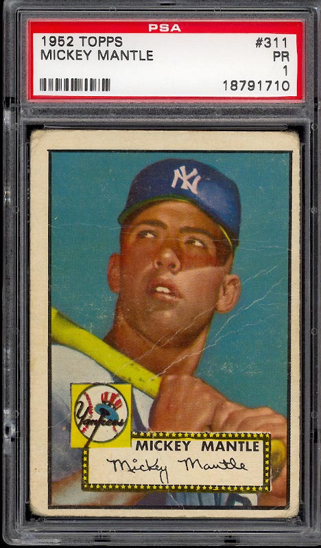 1952 Topps Mickey Mantle #311 PSA 1 POOR (PWCC) - Image 1