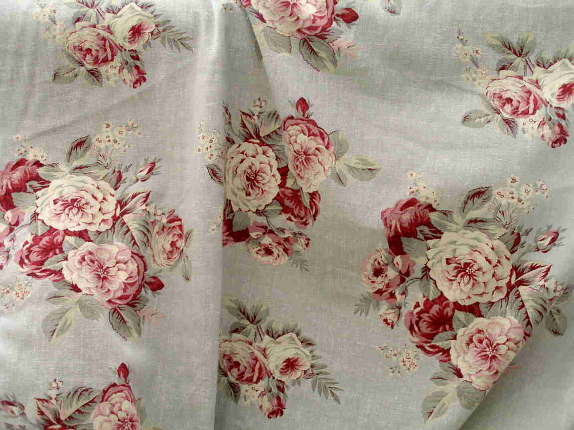 2 yards shabby chic rachel ashwell manor linen roses fabric stunning ebay. Black Bedroom Furniture Sets. Home Design Ideas