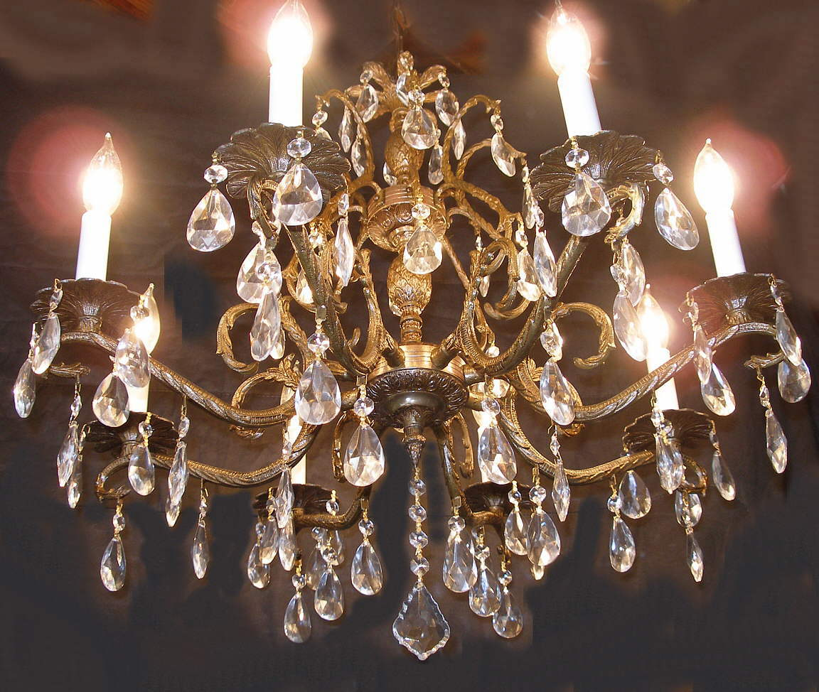 Antique Brass And Crystal Chandelier Furniture - Antique Copper Crystal Chandelier - Chandelier Designs