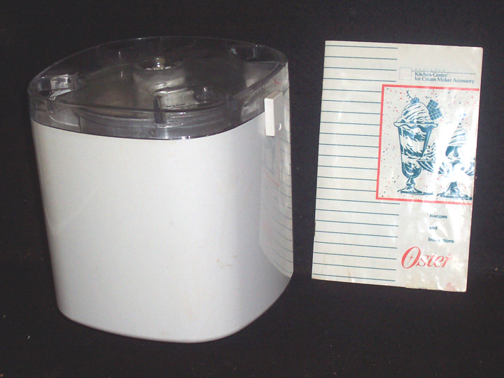 oster 4 quart ice cream maker manual
