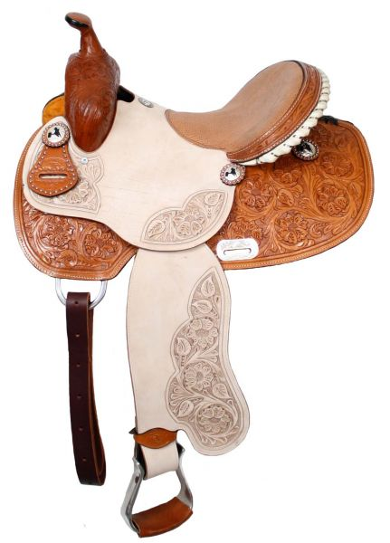 Western Round Skirt Barrel Racing Saddle NEW by Double T ~ Horse Tack
